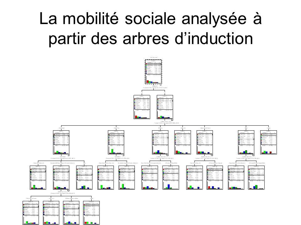 La mobilité sociale analysée à partir des arbres d'induction