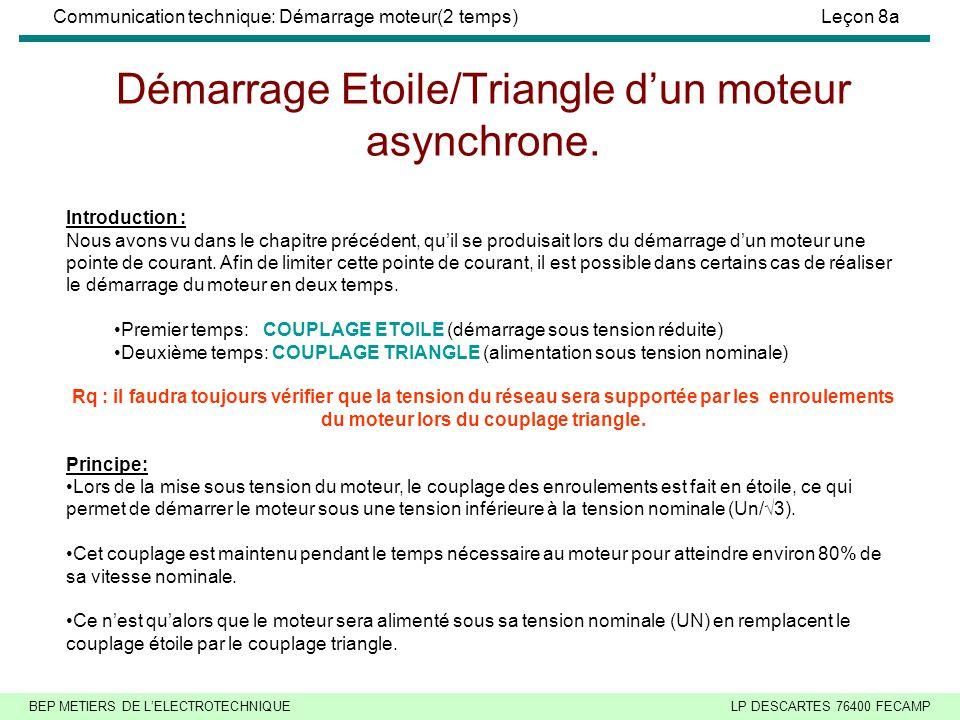 Démarrage Etoile/Triangle d'un moteur asynchrone.