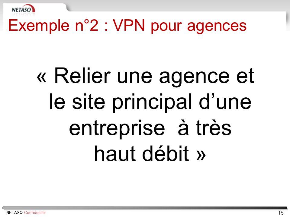 Exemple n°2 : VPN pour agences