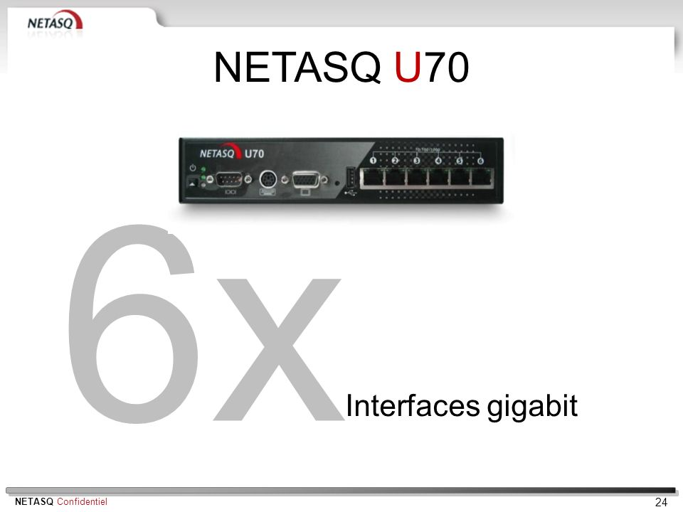 NETASQ U70 6x Interfaces gigabit