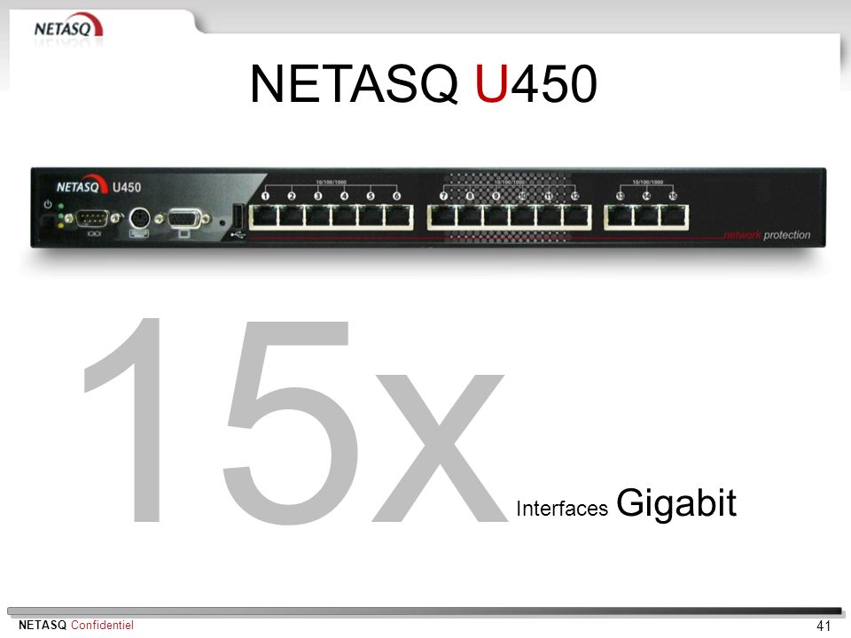 NETASQ U450 15x Interfaces Gigabit