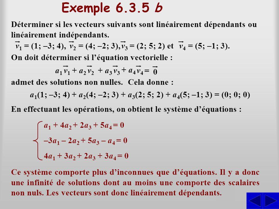 a1(1; –3; 4) + a2(4; –2; 3) + a3(2; 5; 2) + a4(5; –1; 3) = (0; 0; 0)