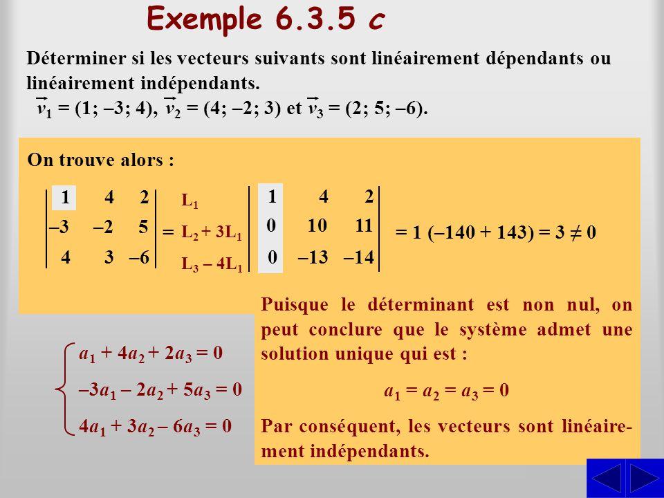 a1(1; –3; 4) + a2(4; –2; 3) + a3(2; 5; –6) = (0; 0; 0)