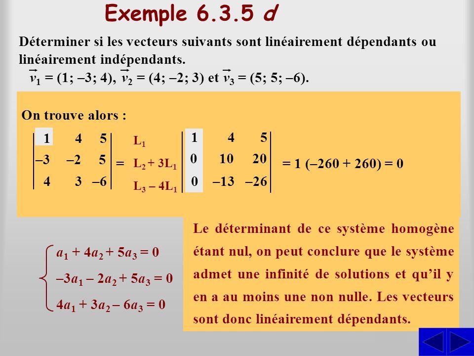 a1(1; –3; 4) + a2(4; –2; 3) + a3(5; 5; –6) = (0; 0; 0)