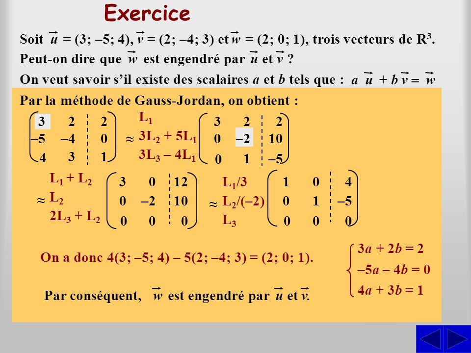(3a; –5a; 4a) + (2b; –4b; 3b) = (2; 0; 1)