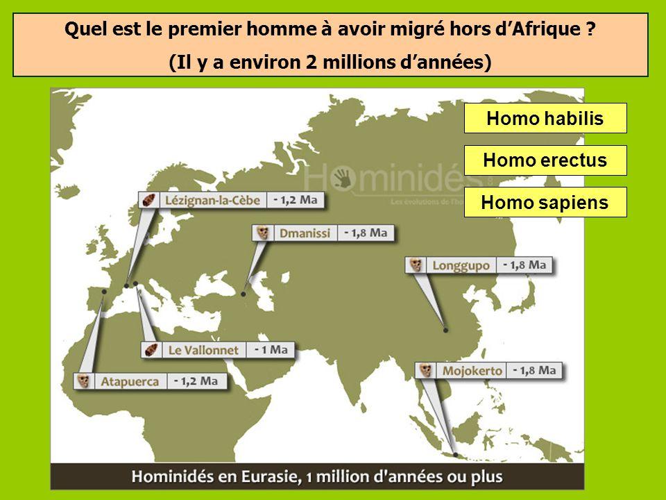 Quel est le premier homme à avoir migré hors d'Afrique