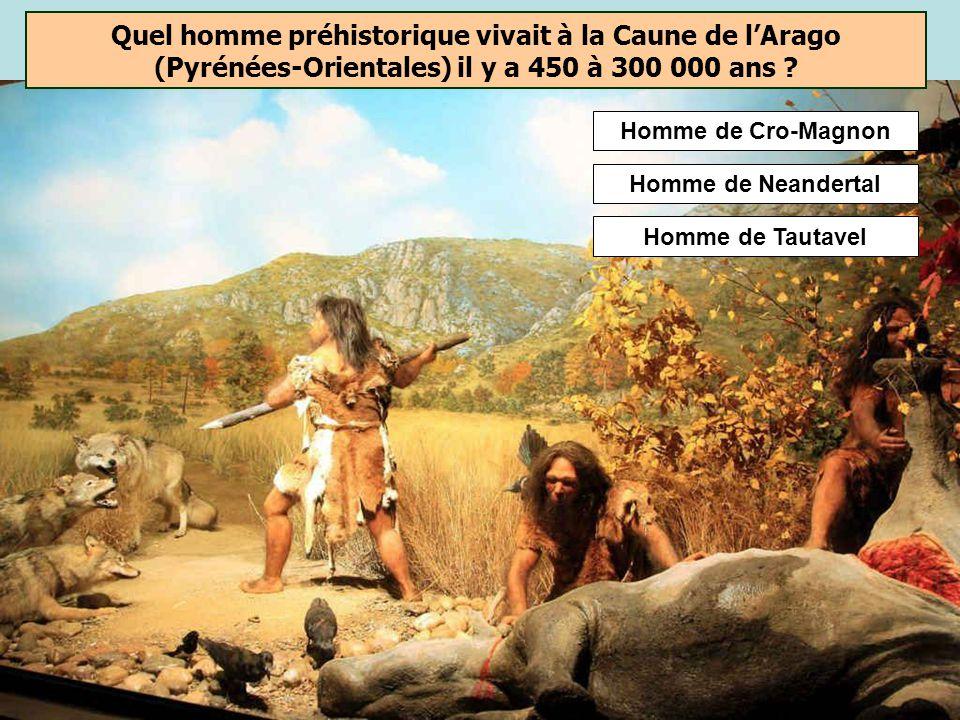 Quel homme préhistorique vivait à la Caune de l'Arago (Pyrénées-Orientales) il y a 450 à 300 000 ans