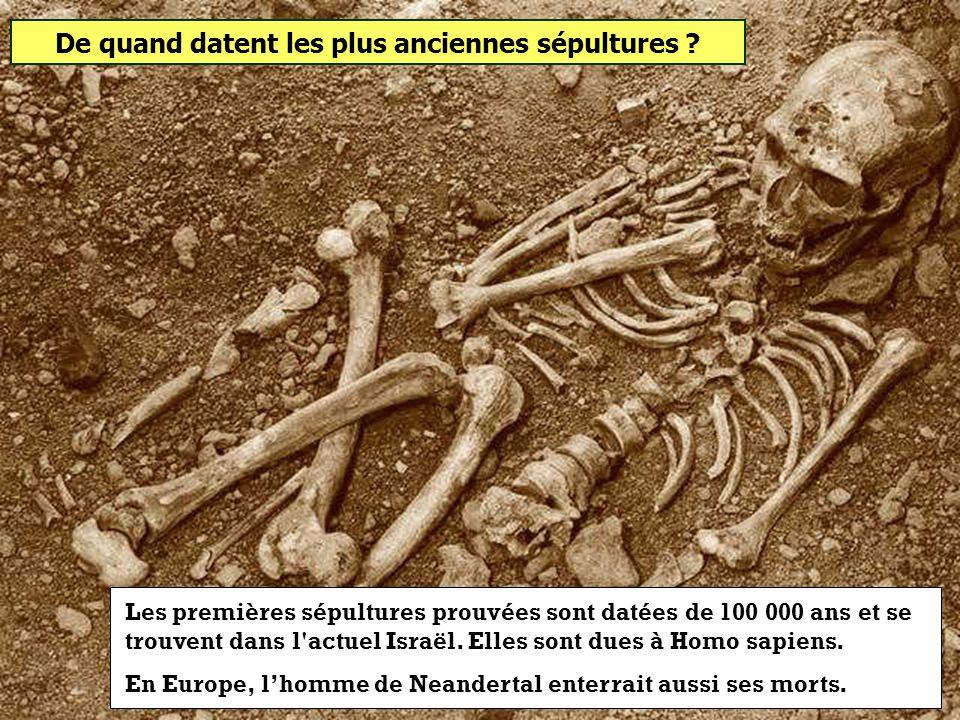 De quand datent les plus anciennes sépultures
