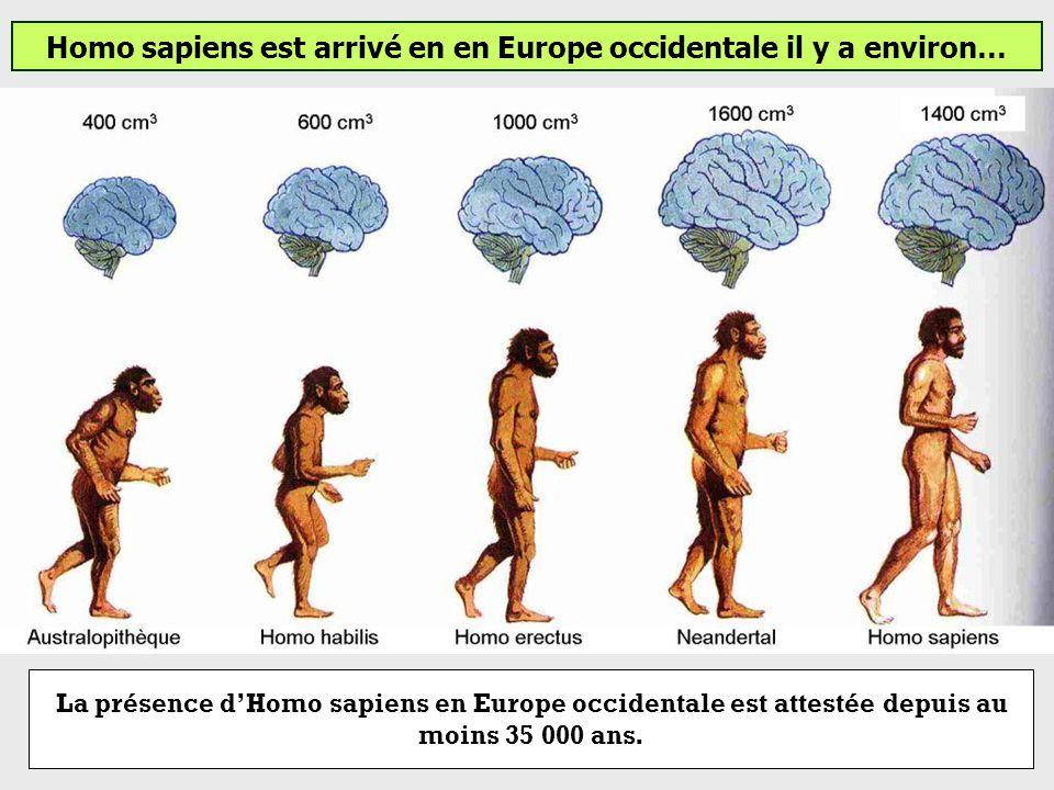 Homo sapiens est arrivé en en Europe occidentale il y a environ…