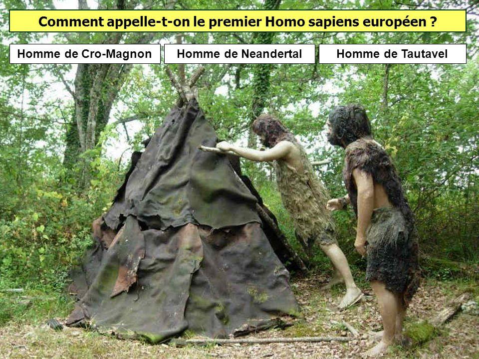 Comment appelle-t-on le premier Homo sapiens européen