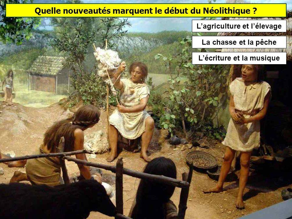Quelle nouveautés marquent le début du Néolithique