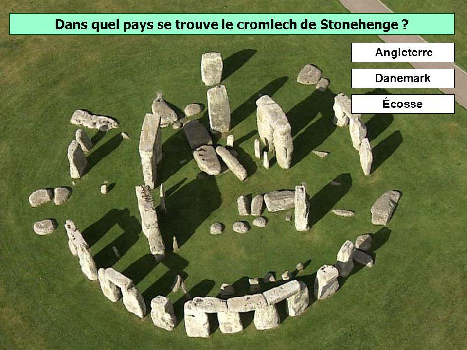 Dans quel pays se trouve le cromlech de Stonehenge
