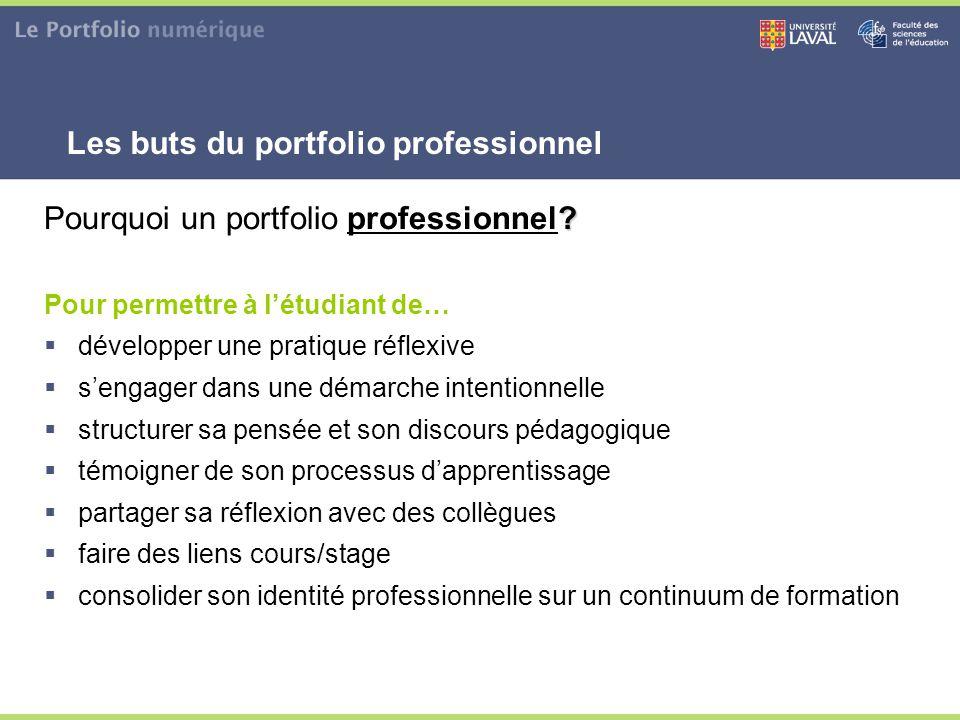 Les buts du portfolio professionnel