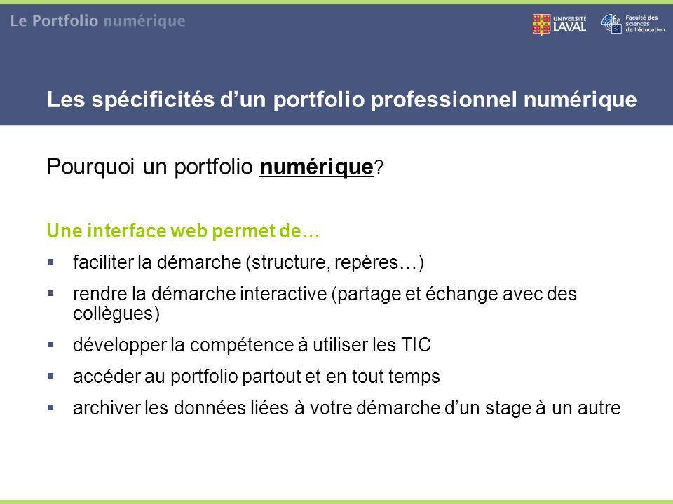 Les spécificités d'un portfolio professionnel numérique