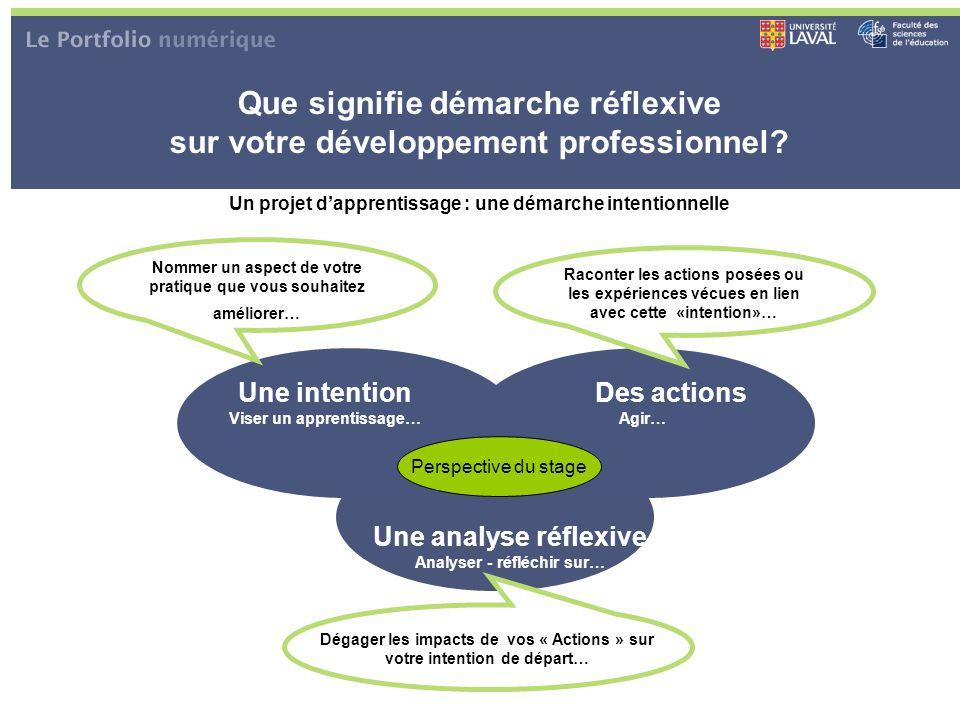 Que signifie démarche réflexive sur votre développement professionnel
