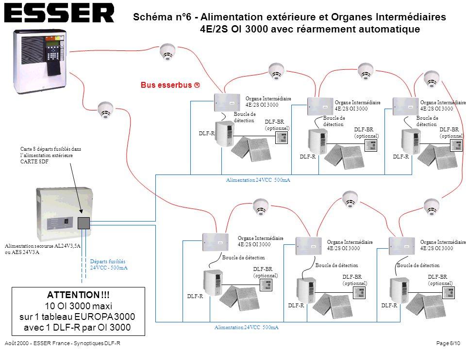 Schéma n°6 - Alimentation extérieure et Organes Intermédiaires