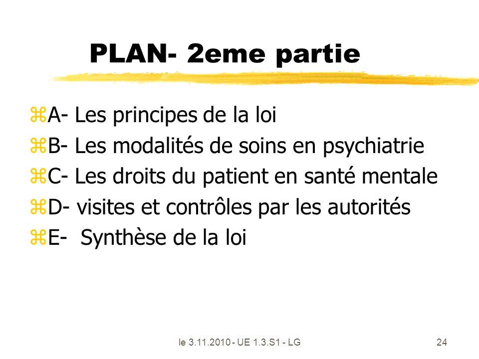 PLAN- 2eme partie A- Les principes de la loi