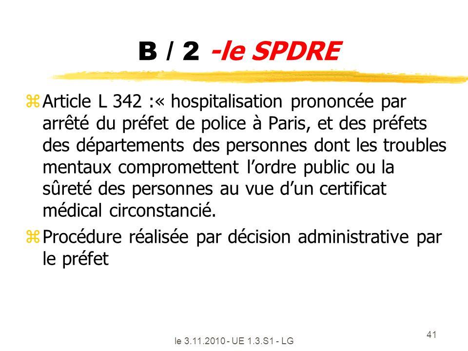 B / 2 -le SPDRE