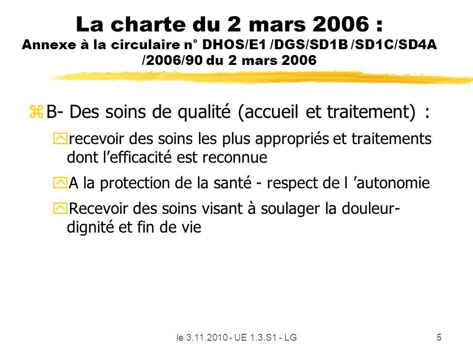 La charte du 2 mars 2006 : Annexe à la circulaire n° DHOS/E1 /DGS/SD1B /SD1C/SD4A /2006/90 du 2 mars 2006