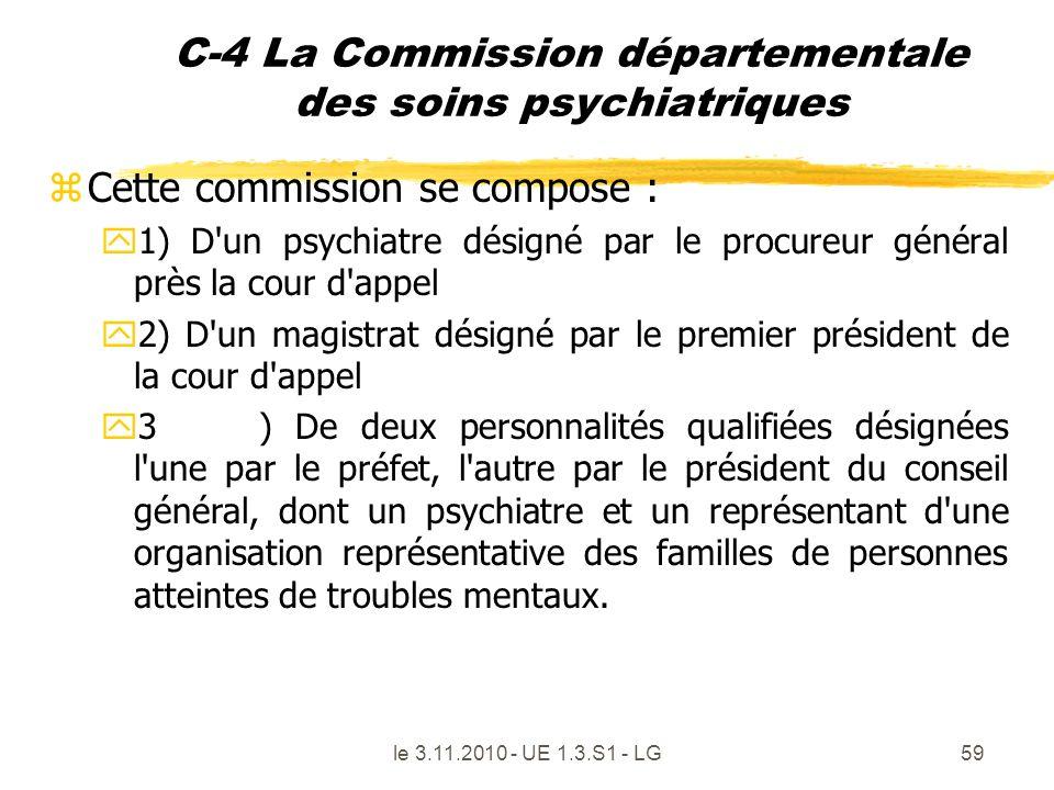 C-4 La Commission départementale des soins psychiatriques