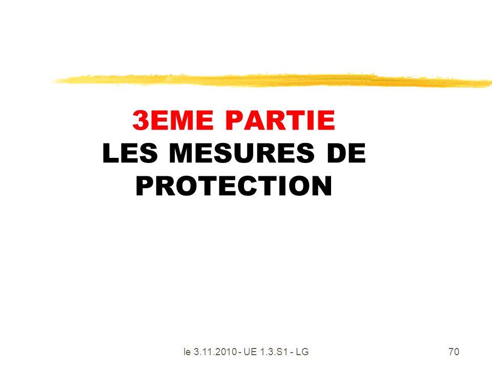 3EME PARTIE LES MESURES DE PROTECTION
