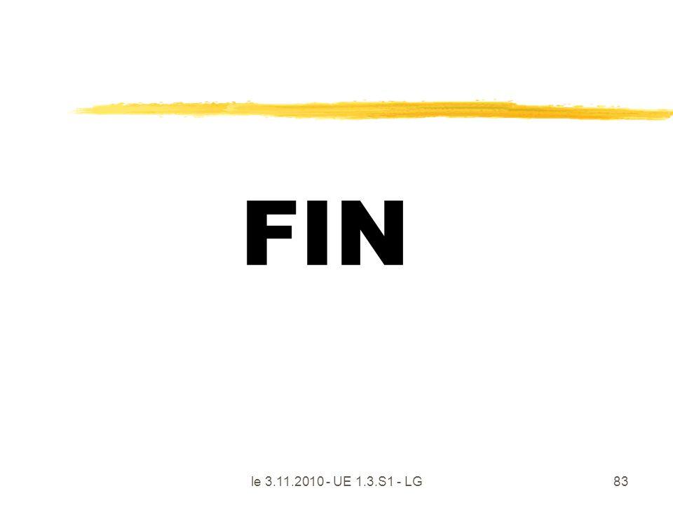 FIN le 3.11.2010 - UE 1.3.S1 - LG