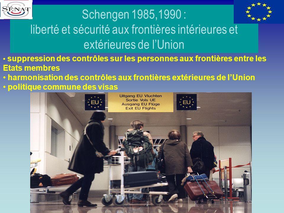 Schengen 1985,1990 : liberté et sécurité aux frontières intérieures et extérieures de l'Union