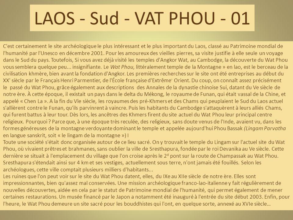 LAOS - Sud - VAT PHOU - 01