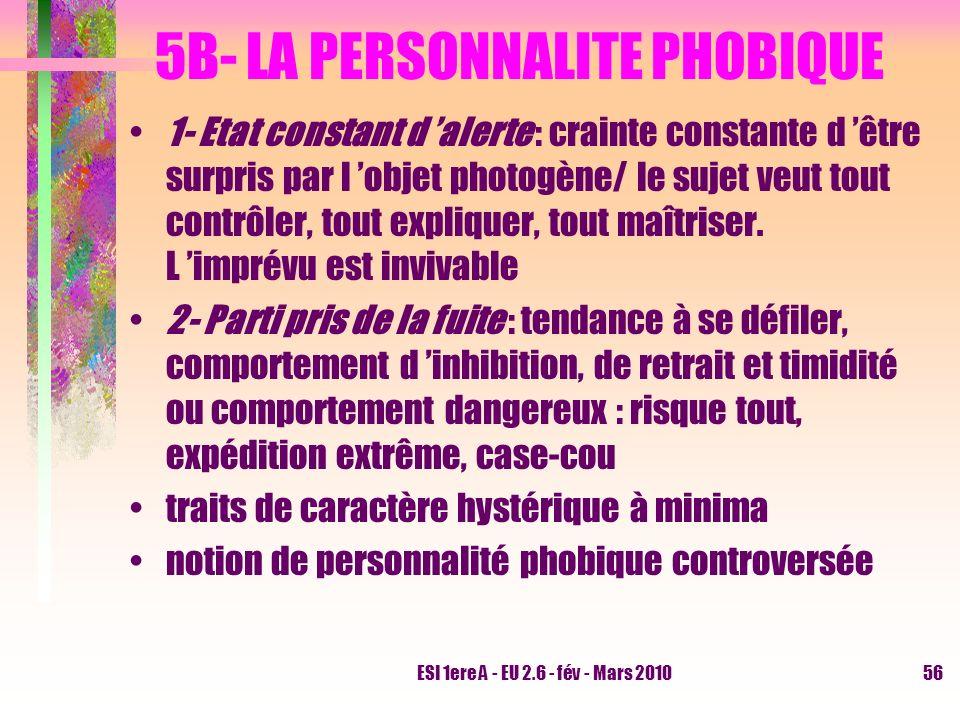 5B- LA PERSONNALITE PHOBIQUE
