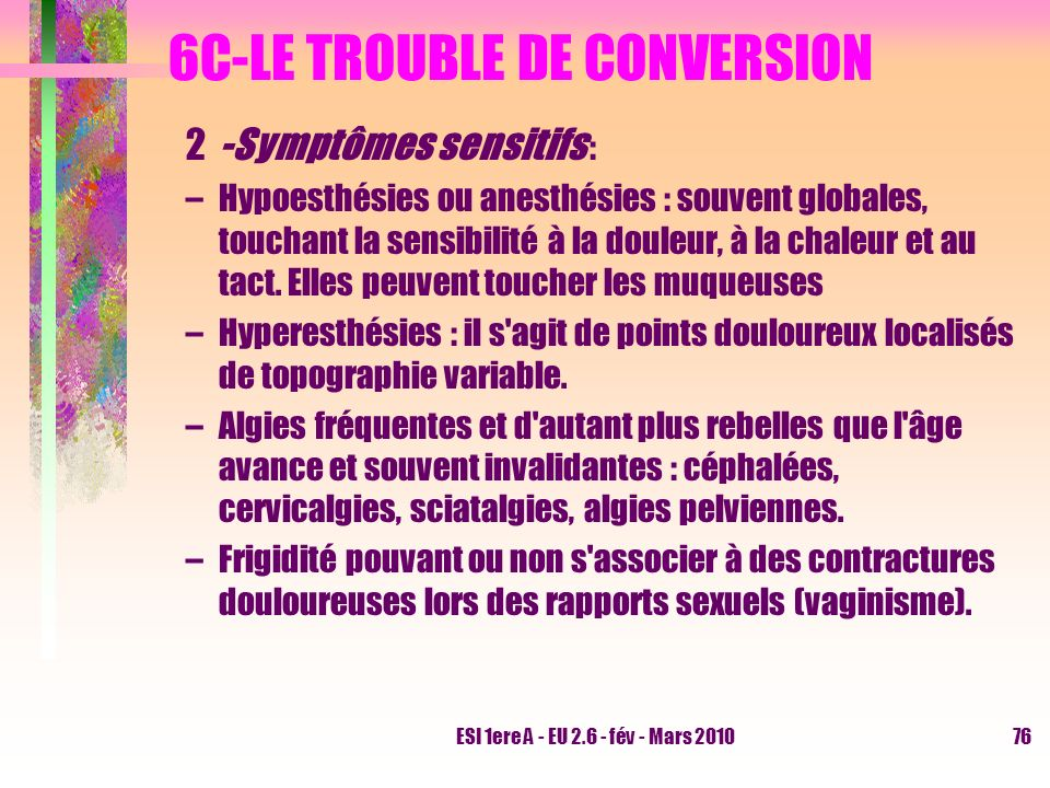 6C-LE TROUBLE DE CONVERSION