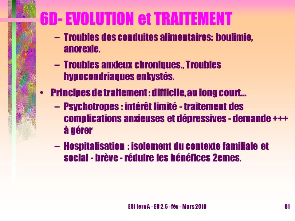 6D- EVOLUTION et TRAITEMENT