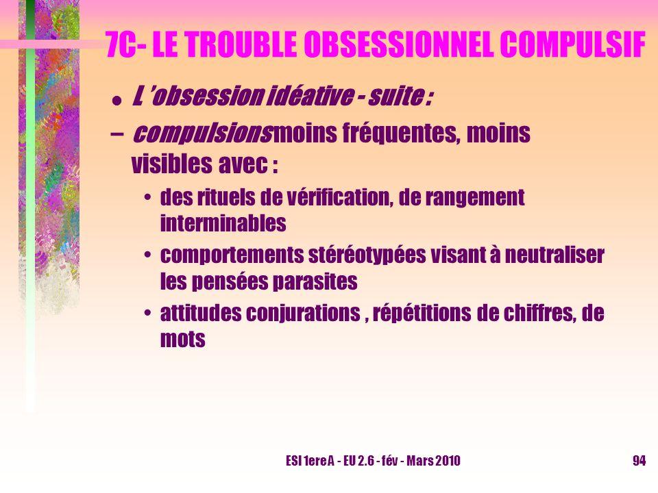 7C- LE TROUBLE OBSESSIONNEL COMPULSIF