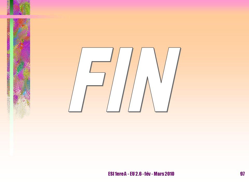 FIN ESI 1ere A - EU 2.6 - fév - Mars 2010