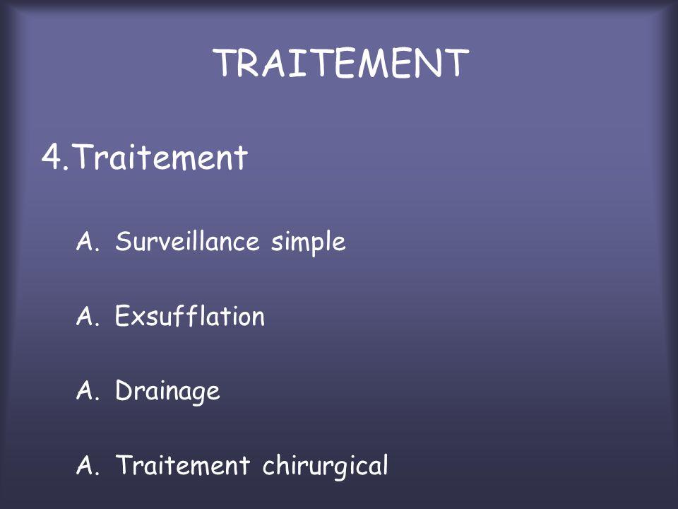 TRAITEMENT 4.Traitement Surveillance simple Exsufflation Drainage