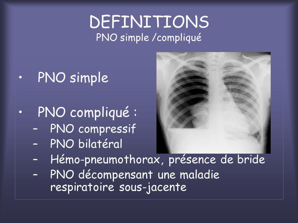 DEFINITIONS PNO simple /compliqué