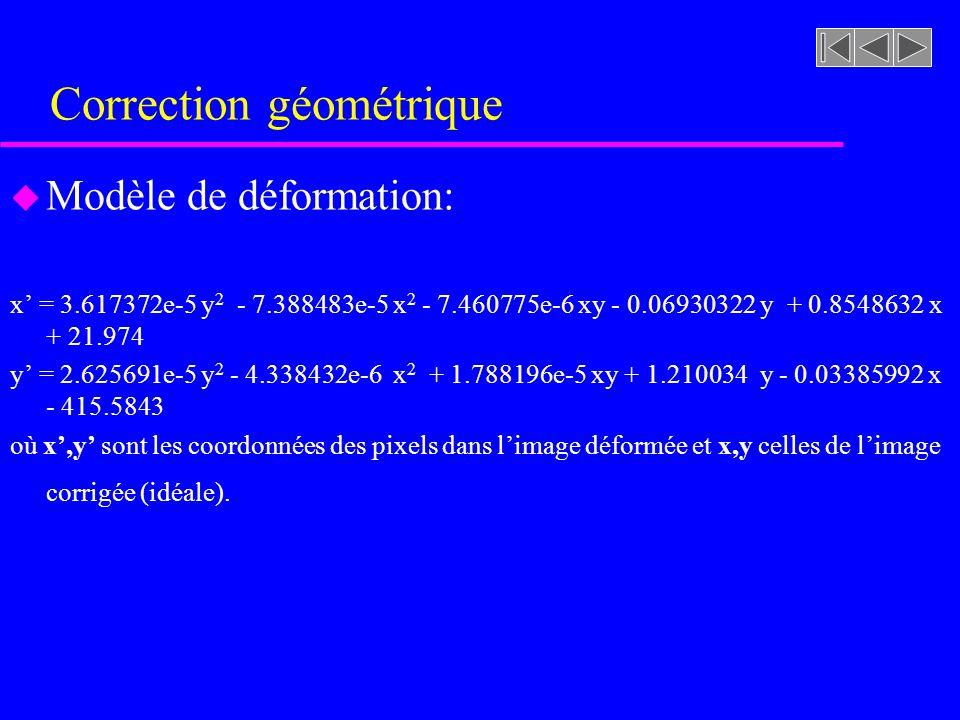 Correction géométrique