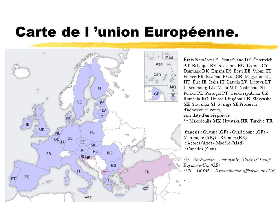 Carte de l 'union Européenne.