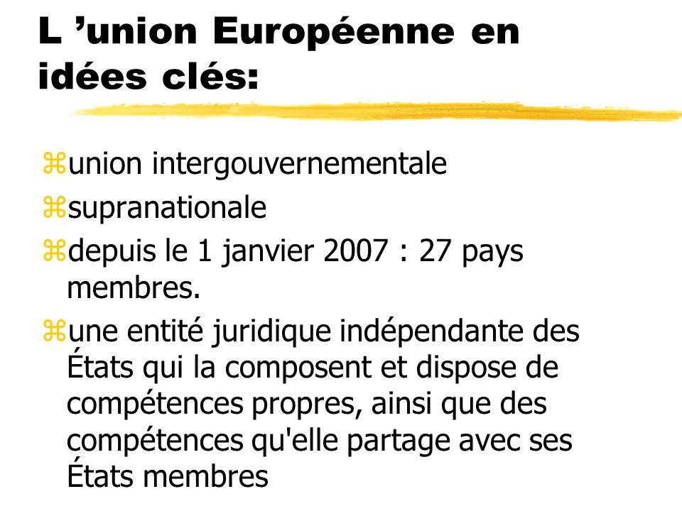 L 'union Européenne en idées clés: