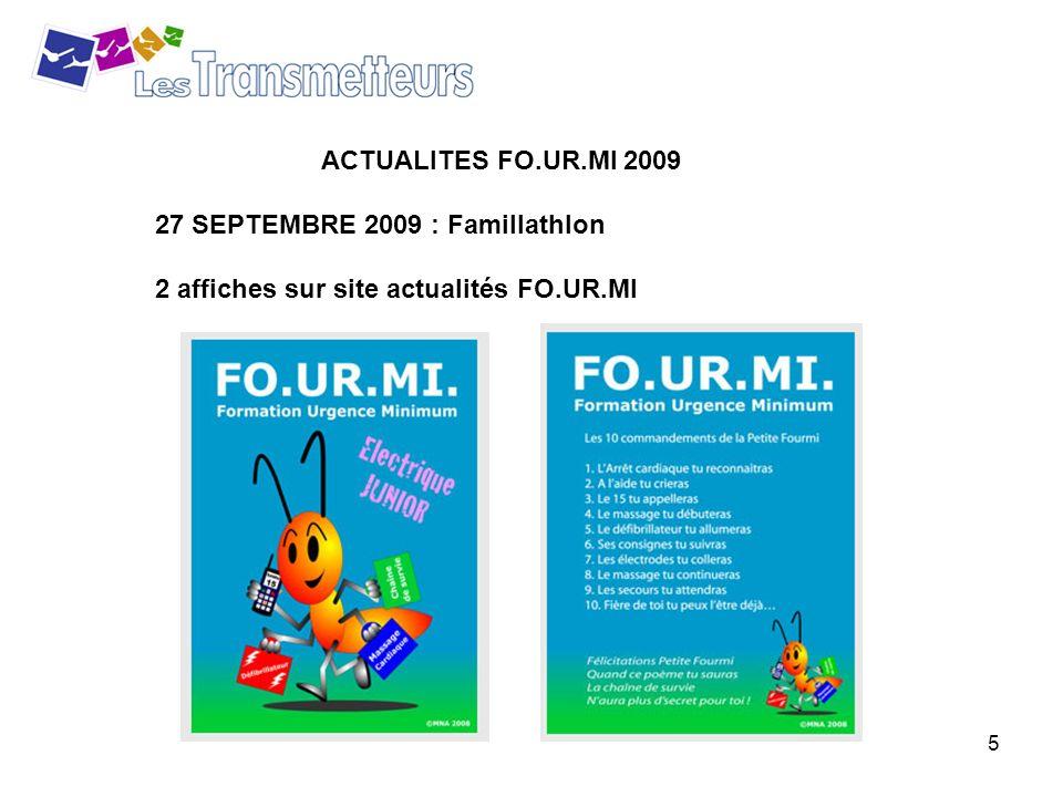 ACTUALITES FO.UR.MI 2009 27 SEPTEMBRE 2009 : Famillathlon 2 affiches sur site actualités FO.UR.MI
