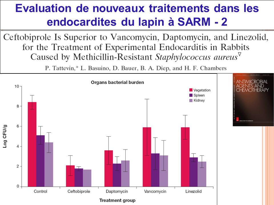 Evaluation de nouveaux traitements dans les endocardites du lapin à SARM - 2