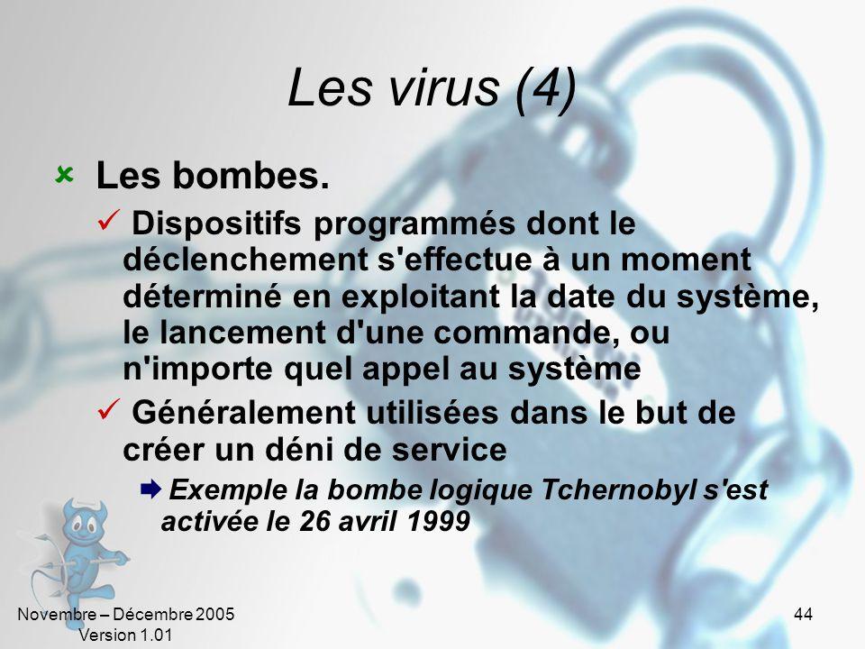 Les virus (4) Les bombes.