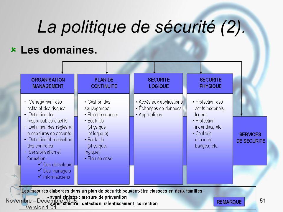 La politique de sécurité (2).