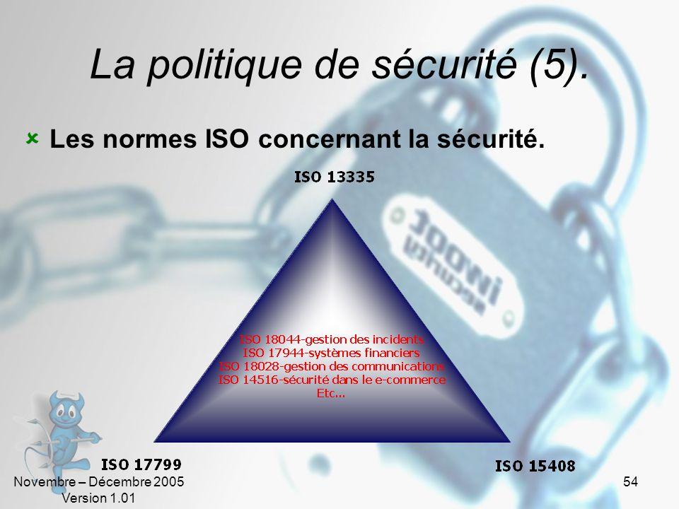 La politique de sécurité (5).