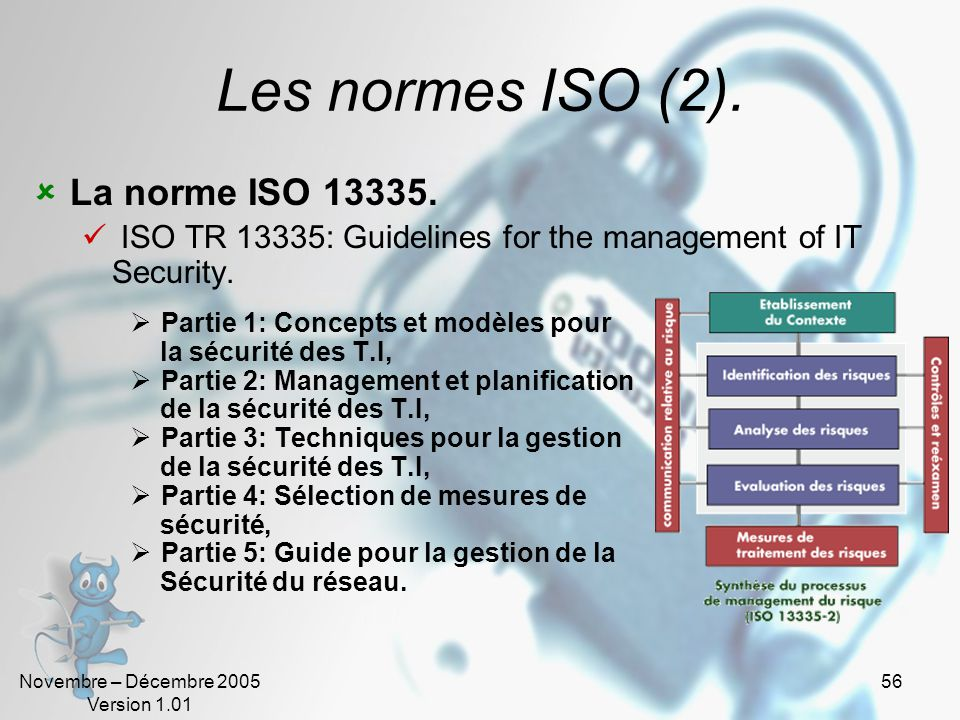 Les normes ISO (2). La norme ISO 13335.