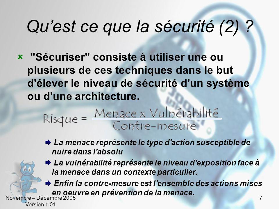 Qu'est ce que la sécurité (2)