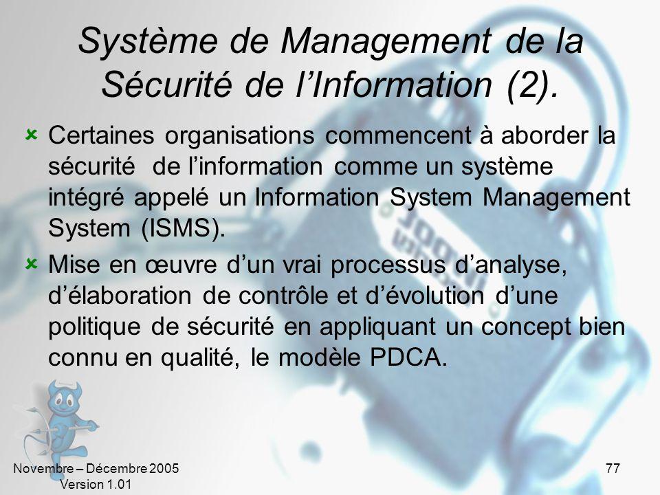 Système de Management de la Sécurité de l'Information (2).