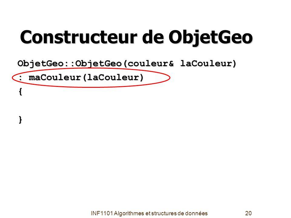 Constructeur de ObjetGeo