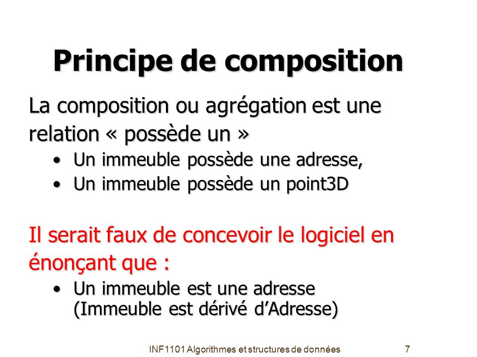 Principe de composition