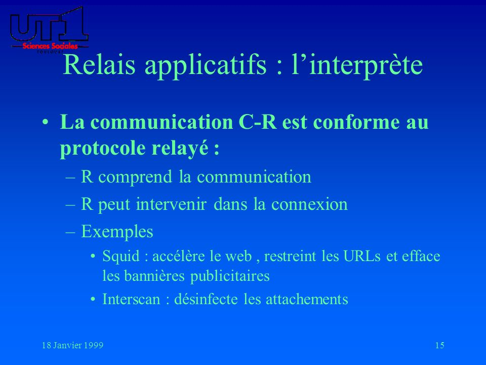 Relais applicatifs : l'interprète