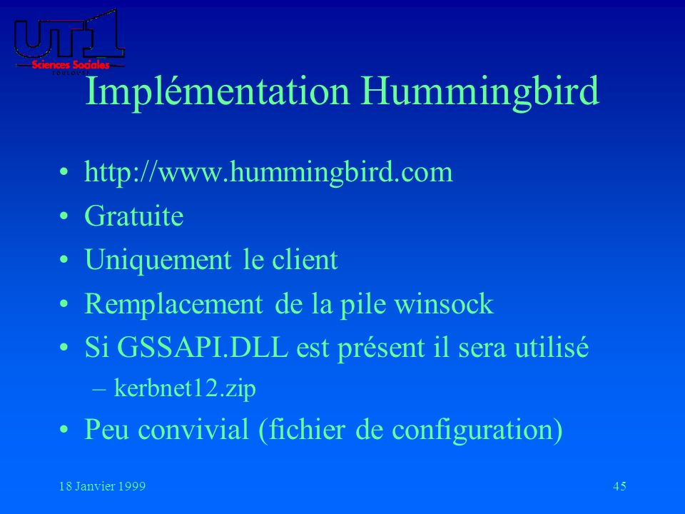 Implémentation Hummingbird
